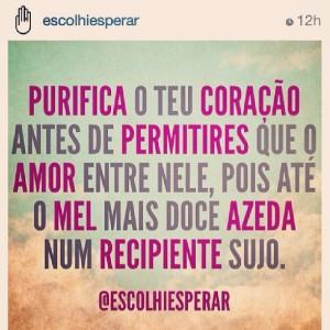 Foto e frase do Instagram do ministério Eu Escolhi Esperar.